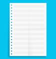 crumpled standart blank music series a4 format vector image