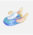 cute cartoon sneakers icon sneaker sticker icon vector image