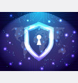 cyber security guard network safety and internet vector image