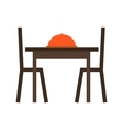 Dining Table I vector image vector image