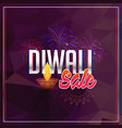 diwali sale background with fireworks vector image vector image