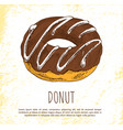 donut sweet dessert isolated on white background vector image vector image