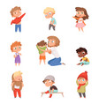 dressing up kids children changing clothes vector image vector image