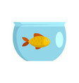 fish in aquarium icon flat style vector image vector image