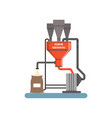 flour grinding equipment stage of bread vector image vector image