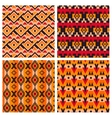 geometric ethnic aztec mexican seamless patterns vector image vector image