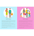 happy family parents and kids mother holds newborn vector image