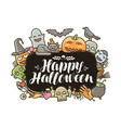 happy halloween banner or greeting card holiday vector image vector image