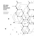 hexagons connect abstract background geometric vector image vector image