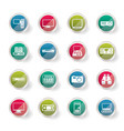 hi-tech equipment icons over colored background vector image vector image
