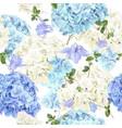 hidrangea blue pattern vector image vector image