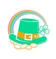 icon patricks day green vector image