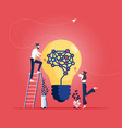 idea concept for business teamwork analysis vector image