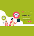 indian couple man woman chatbot robot vector image