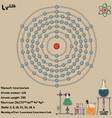 infographic element livermorium vector image vector image
