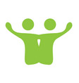 isolated business teamwork icon vector image vector image