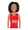 isolated female athlete avatar vector image