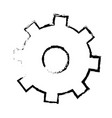 isolated gear icon vector image