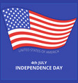 july 4 independence day in the united states flag vector image vector image