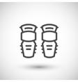 Knee guard line icon vector image vector image