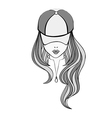 Lady in baseball cap vector image