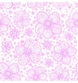 Light pink flourish seamless pattern vector image vector image