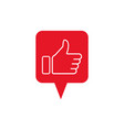 like and dislike icons thumbs up and down vector image