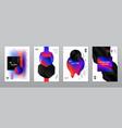 liquid banners set vector image