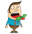Money eater vector image vector image
