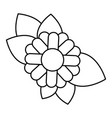 monochrome contour of abstract sunflower with vector image vector image