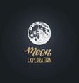 moon exploration handwritten phrase drawn vector image