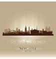 Newcastle England skyline city silhouette vector image vector image