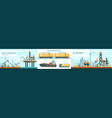 oil gas industry technology flat vector image vector image