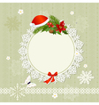ornamental christmas frame vector image vector image