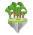 paper art forest vector image vector image