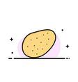 potato food business logo template flat color vector image vector image