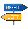 Right or Left Sign Choice vector image vector image