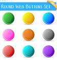 Round web buttons vector image vector image