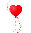 ruby red realistic heart shaped helium balloon vector image