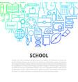 school line concept vector image vector image