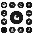 set of 13 editable healthy icons includes symbols vector image vector image
