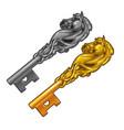 set vintage fancy keys in form a horse vector image vector image