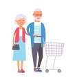 shopping couple vector image vector image