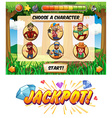 Slot game template with lumber jack characters vector image vector image
