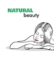 Spa Isolated Girl vector image vector image