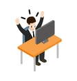 Stress situation at work icon isometric 3d style vector image