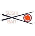 Sushi bar food logo template vector image vector image