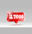 thank you followers peoples 7k online social vector image vector image