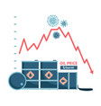 the world oil crisis in 2020 fall in the vector image