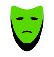 tragedy theatrical masks green 3d icon vector image vector image